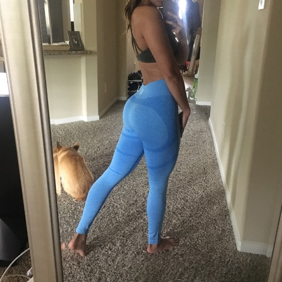 b6a9e05ccc2 jed north Pants - Blue seamless leggings